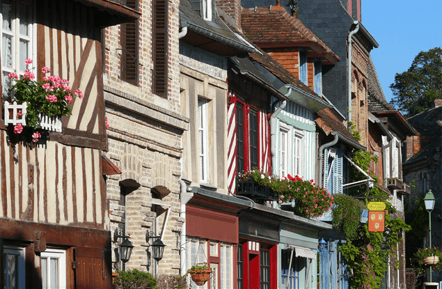 Beaumont-en-Auge in Normandië